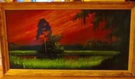 Original Highwayman Painting   48 inches
