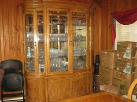 2 piece China Cabinet with crystal