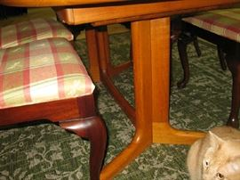 bottom of dining room table