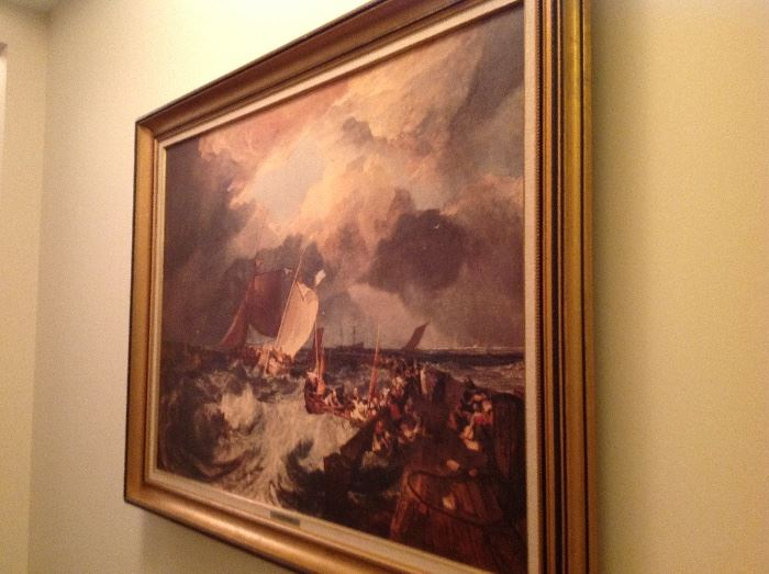 TURNER PAINTING REPRODUCTION.