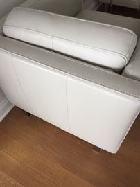 """CLASSIC LEATHER SILVER CLUB/LOUNGE CHAIRS: Gorgeous, the MOST comfortable, sleek and chic, timeless. Dimensions: Height: 28"""". Width: 32"""". Depth: 41"""". Buy one or all.Excellent, pristine,clean condition.From the New York City Design Center. This ones a no brainer! Same or next day delivery available."""