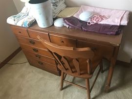 One of two identical Ethan Allen desks