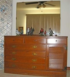 Ethan Allen dresser with attached mirror