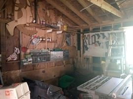 A whole two room shed workshop dedicated to a lot of woodworking
