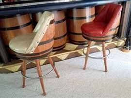 Barrel bar stools!