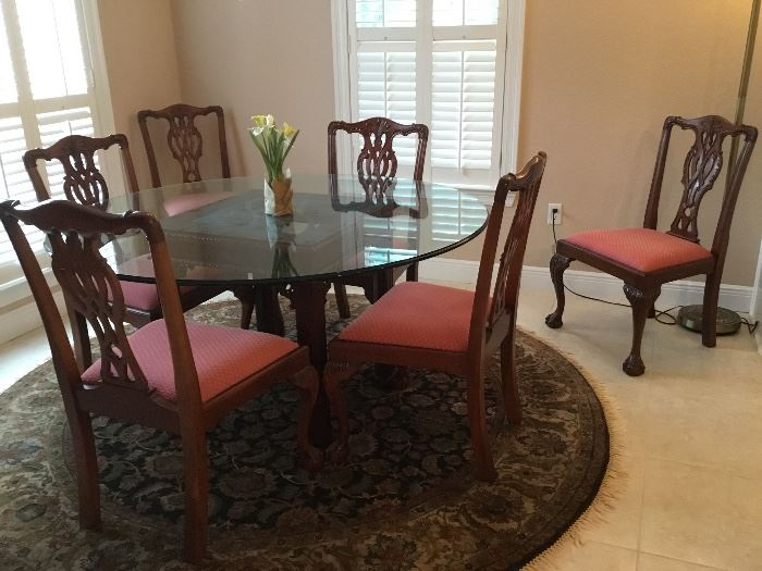 CRAFTIQUE table & 6 chairs