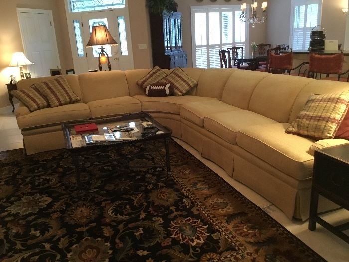 KRAVET sectional sofa 9' on one side to 11' on the other
