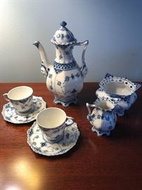 Blue Lace Royal Copenhagen Tea Set