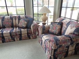 Sofa, Love Seat & Chair to match