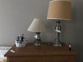 There are various household items like the lamps and porcelain dumbo shown here.