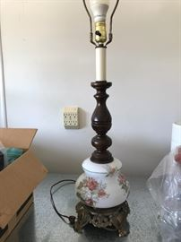 Antique lamp minus shade.