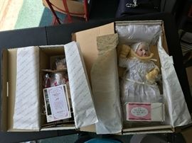 Christmas Prayer and Victorian Christening dolls.