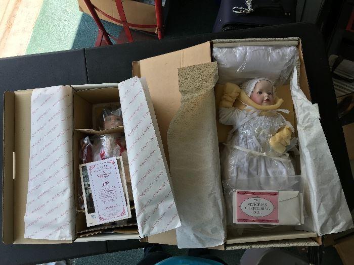 Christmas Prayer and Victorian Christening dolls.