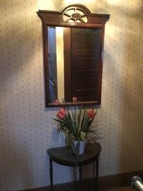 Entryway 1/2 Moon Table & Mirror