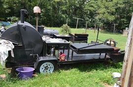 "5'X12"" Custom built BBQ Trailer"