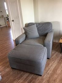 comfy chair and ottoman, two avaialble