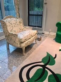 Oversized chair & custom rug