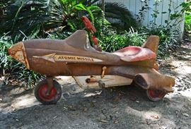 1950 Murray Atomic Missile pedal car; available for pre sale at $695, email earlybirdes@gmail.com