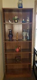 Book case, nautical decor, trinkets,  star wars bubble gum machine and vases