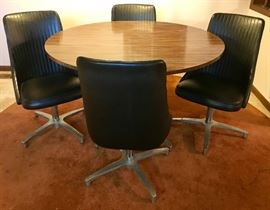 MCM Chromcraft Table & Four Chairs