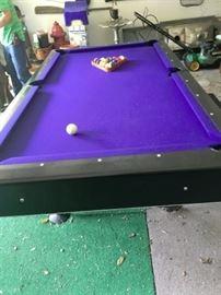 8' Pool table...Has cue sticks