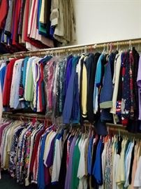 Lots of clothes some vintage around 80's