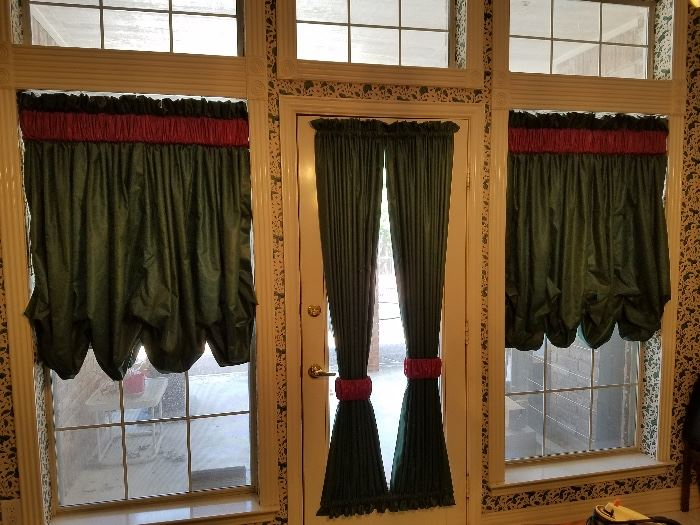 All curtains/draperies are for sale