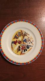 Mickey Mouse luncheon plate w/ small chip--by Eleanore Welborn, Monterey CA