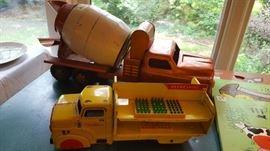 Vintage metal trucks