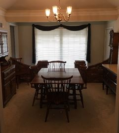 Lovely Dinging Room Set / Table & Chairs / Grandmother Clock