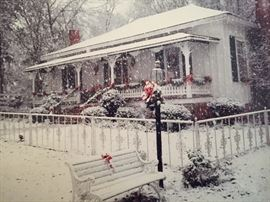 A picture of the house in winter.