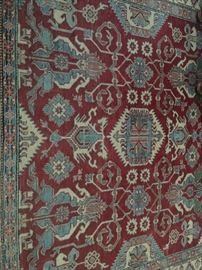 Amazing carpet - this is handspun and in fine condition, don't miss out on this!