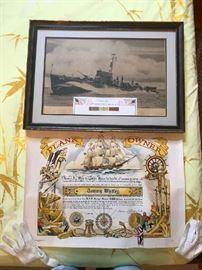 World War 2  Battleship  Picture and Metals