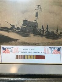 """World War II  battleship picture """"With Honor I Served in World War II""""  William H. Smith"""