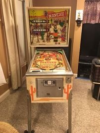 Vintage Rancho Pinball Machine