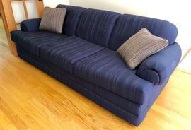 Navy sofa- very nice condition
