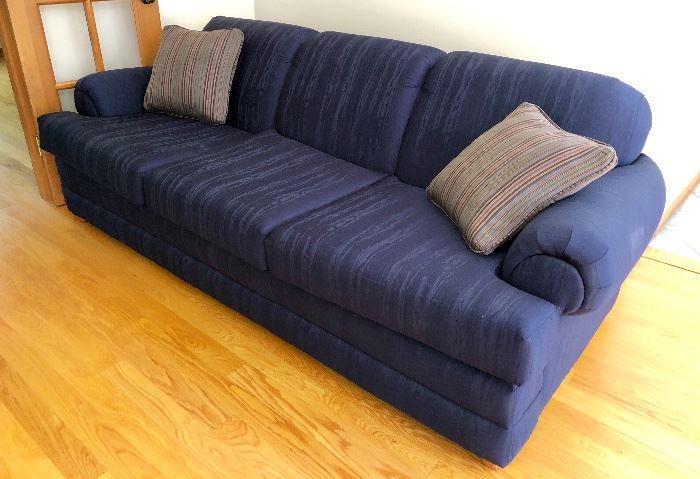 Navy sofa- very nice condition