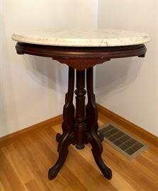 Eastlake, marble-top table