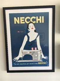 VINTAGE NECCHI POSTER (NOT REPRO)