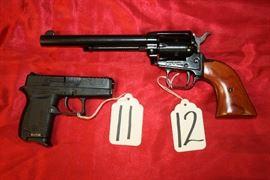 11 - Diamondback DB380 auto , 12 - Heritage Rough Rider revolver 22