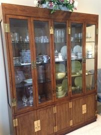 Beautiful china cabinet boasting more-than-ample display and storage areas.