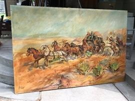 Large Mural signed H. George 1922