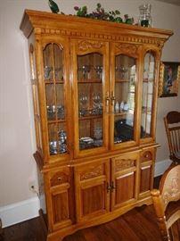 Part of an oak dining room set