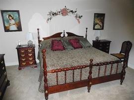 Top quality Sumter solid wood bedroom set