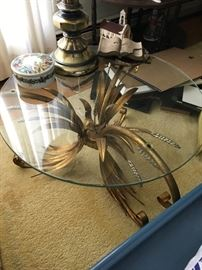 Another round glass table