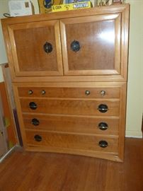 Neat Mid Century Modern chest w/cabinet on top..KARPEN OF CALIFORNIA