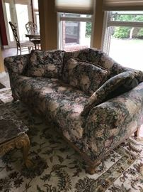 FLORAL SOFA WITH WOODEN FRAME