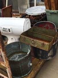 Antique Scales, cart, and all kinds of cool pieces