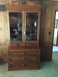 Antique Lincoln desk in native hard wood