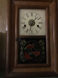 Gorgeous Seth Thomas mantle clock with cardinals